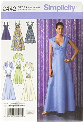 - Simplicity Designs by Karen Z Pattern 2442 Misses Dress in 3 Lengths with Bodice Variations and Bolero Size 14-16-18-20-22