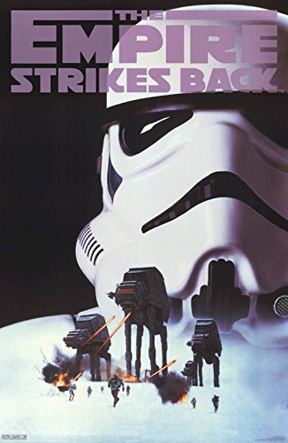 Star Wars: Episode V - The Empire Strikes Back - Movie Poster / Print (Stormtrooper & AT-AT's - The Battle Of Hoth) (Size: 23