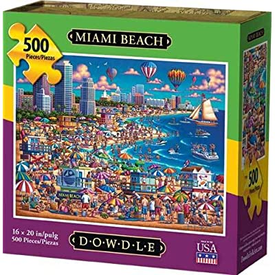 Dowdle Jigsaw Puzzle - Miami Beach - 500 Piece: Toys & Games