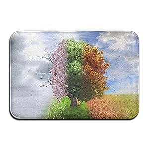 """Cuatro temporada árbol antideslizante lavable acogedor alfombra al aire libre para salón o dormitorio (23.6x15.7, """"L x W)"""