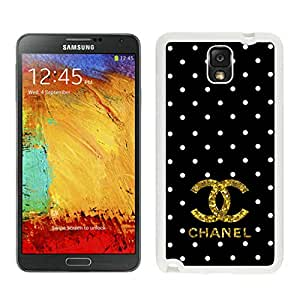 Fashion And Durable Samsung Galaxy Note 3 Case Designed With Chanel 37 White Phone Case For Samsung Note 3 Cover