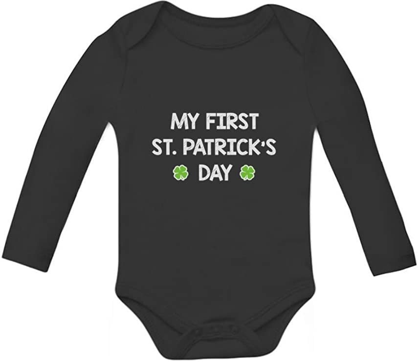 Luck Be Mine Funny St Patrick Baby Onesie Black Outfits Long Sleeve Sleepwear Cotton Cute