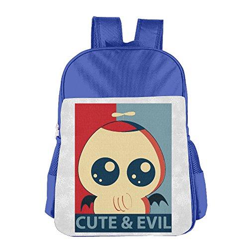 Boys Girls Cute Evil Cthulhu Backpack School Bag (2 Color:Pink Blue) RoyalBlue (Evil Fairy Tale Characters)