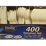 Disposables Plastic Combo Cutlery - 400 Count.