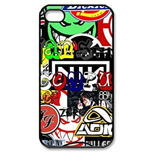 Custom Personalized Skateboarding Extreme Sports Cover Hard Plastic iPhone 4 4S Case