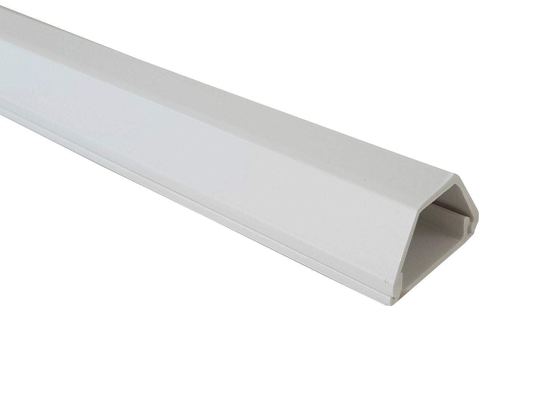 netproshop Kabelkanal 19x16mm Innenmaß PVC (Trapezförmig, Selbstklebend) (1 Meter), Farbe:grau