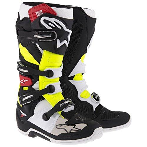 Alpinestars Tech 7 Boots , Primary Color: Black, Size: 13, Distinct Name: Black/Red/Yellow, Gender: Mens/Unisex 201201413613 by Alpinestars negro rojo amarillo neón