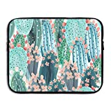 Khom Business Briefcase Sleeve Colored Cactus Laptop Sleeve Case Cover Handbag for 15