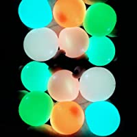 EXZ Ceiling Balls,Stress Balls for Adults and Kids, Glow in The Dark Sticky Balls for Kids, Sensory Toys,Stress Toys