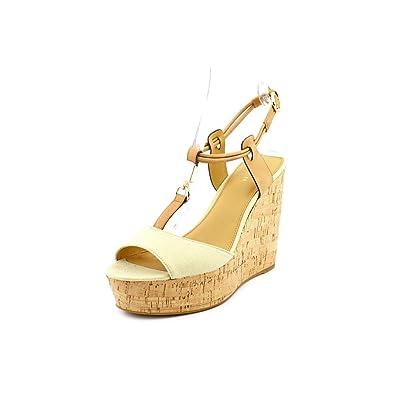 14f7265fedb Coach Linden Women Wedge Platform Sandal Size US 8.5 Gold Natural