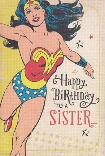 "Happy Birthday Wonder Woman Quotes: Greeting Card Birthday Wonder Woman ""Happy Birthday To A"