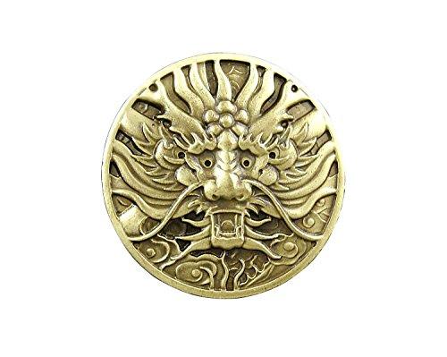 Biker Concho (Screw Back Brass Japan Dragon Concho Coin Wallet Biker Trucker)