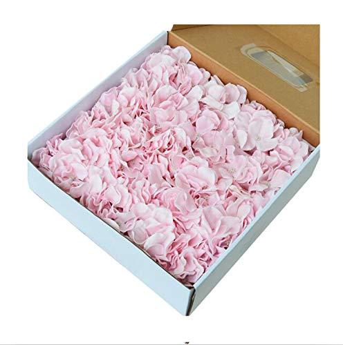 25Pcs/Box 12 Heads Hydrangea Soap Flower Head Wedding Valentine's Day DIY Artificial Flowers Bouquet Home Decor,Light Pink