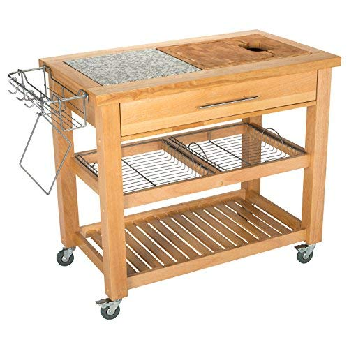 Chris & Chris Jet1223 Pro Chef Kitchen Work Station, 23 by 40 by 35-Inch