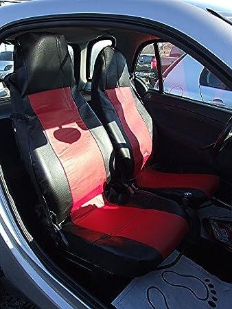 A1 2 Maß SitzbezÜge SchonbezÜge Vordersitz Rot Schwarz Kunstledr Einteilig Top QualitÄt Mit Öffnungen FÜr Airbag Waschbar Auto