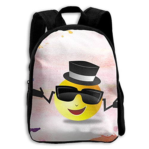 Smiling Face With Sunglasses Cool Kids Backpacks Double Shoulder Print School Bag Travel Gear Daypack - Sunglasses Face With Smiling