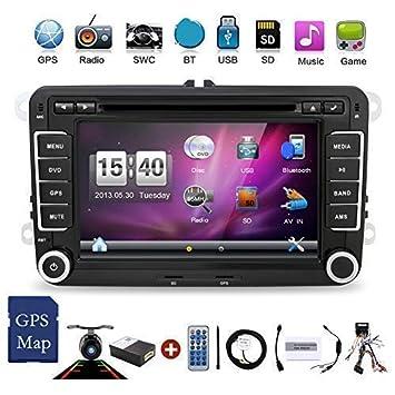 2 DIN con pantalla de 7 pulgadas para coche con DVD, GPS, reproductor DVD estéreo y sistema Window CE 6.0, con cámara incluida: Amazon.es: Electrónica