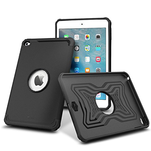 iPad Mini 4 Case, roocase [Exec Tough] Orb System iPad Mini 4 Slim Fit Case Hybrid PC / TPU [Corner Protection] Armor Cover Case for Apple iPad Mini 4 (2015), Granite Black