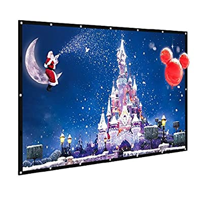 120 inch Outdoor Projector Screen GBTIGER 120 inch 16:9 Portable Folding Outdoor Movie Screen for Home Cinema Theate Movies, Presentation, Education , Outdoor Indoor Public Display etc. with Bag