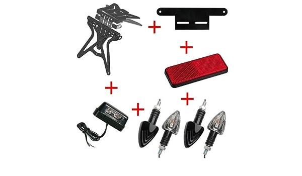 Kit para Moto Matricula Universal + 4 Flechas + luz Placa + ...