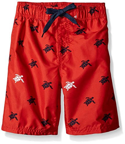 Kanu Surf Big Boys' Terrapin Turtle Quick Dry Beach Board Shorts Swim Trunk, Red, Medium (10/12) ()