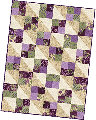 Maywood Studio Aubergine Four Square Quilt Pod Kit by Debbie Beaves POD-MAS07-AUB