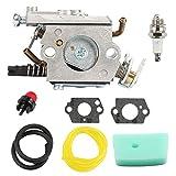 Butom C1Q-EL24 Carburetor with Air Filter Tune Up Kit for Husqvarna 123C 123L 123LD 223L 223R 322C 322L 322R 323C 323L 325C 325CX 325L 325LX 326C 326L 326LX String Trimmer Pole Saw