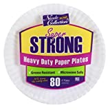 Nicole Home Collection 80 Count Heavy Duty Paper Plate, 9'', White