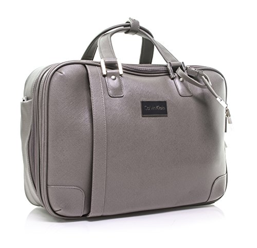 Calvin Klein Cold Spring Case Laptop Briefcase, Grey, One Size by Calvin Klein