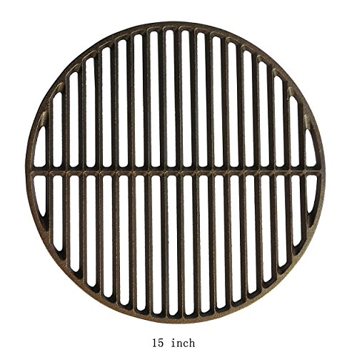 Dracarys 15' Cast Iron Grate Grids Sear Grate, Round Cooking Grate Big Green Egg Accessories Fit for...