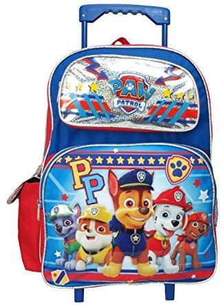 Nickelodeon Paw Patrol Large 16'' Rolling Backpack by Nick Jr