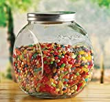 Circleware Yorkshire Mason Glass Cookie Food Preserving Canister Jar with Metal Lid, 1.5 Gallon