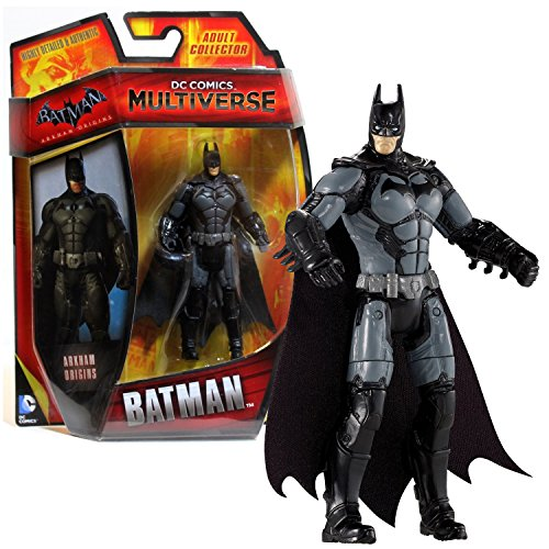 Mattel Year 2014 DC Comics Multiverse Batman Arkham Origins Series 4 Inch Tall Action Figure - BATMAN (CDW40) with Grey Belt