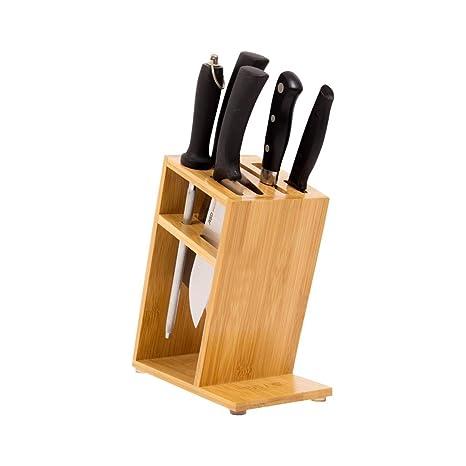 Soporte para Cuchillo de bambú Herramienta de la Cocina para ...