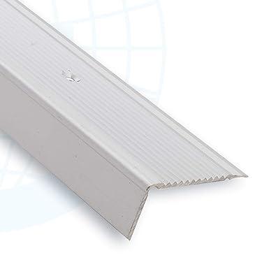 Perfil angular recto para escaleras y escalones de aluminio antideslizante 215A: Amazon.es: Industria, empresas y ciencia