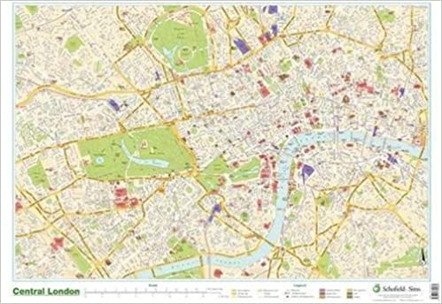 London Map Central.Map Of Central London Amazon Co Uk Schofield Sims Ltd