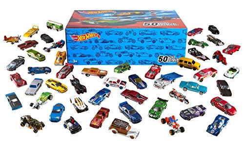 Hot Wheels 50 Pack (Styles May Vary) (Best Lightweight Car Wheels)