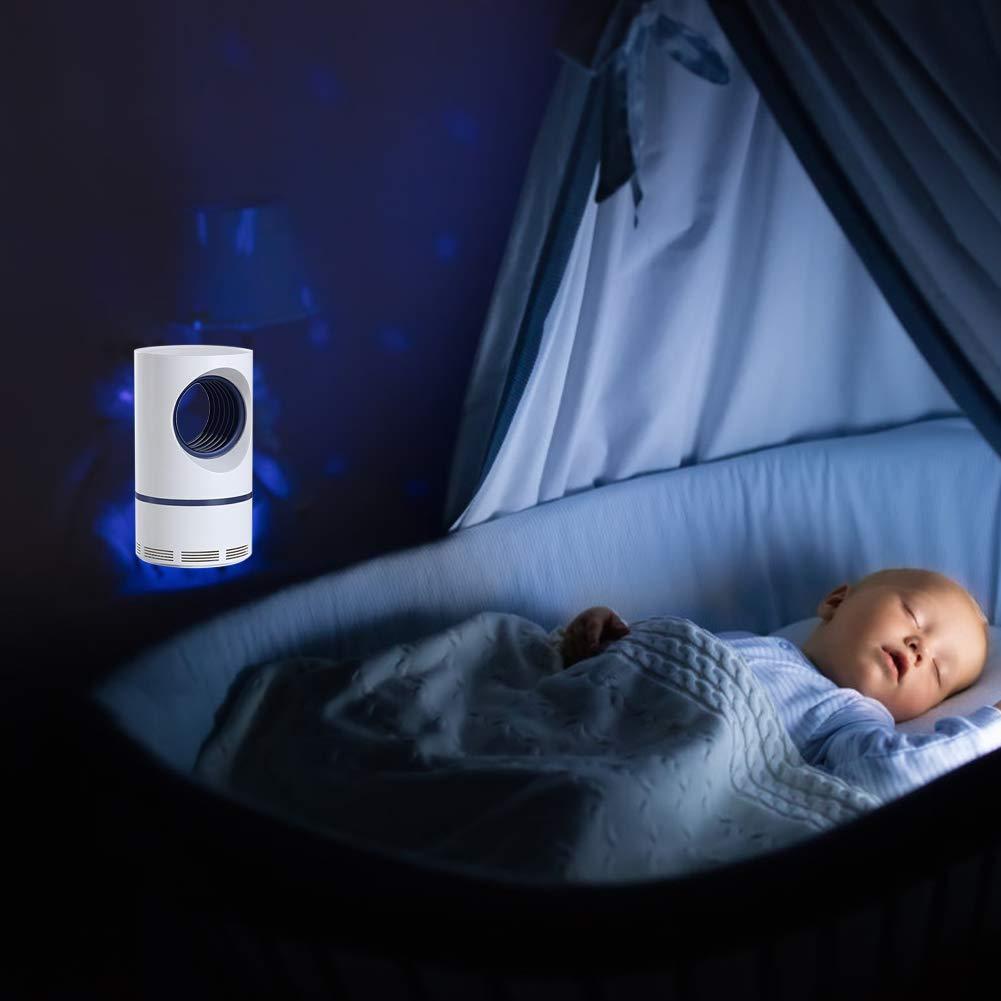 Eruditter Moustique Tueur Lampe pour prot/éger Les Enfants S/écurit/é Basse Tension///économie d/énergie Lampe Anti-moustiques pour Maison//Bureau//lext/érieur Confortable et Calme