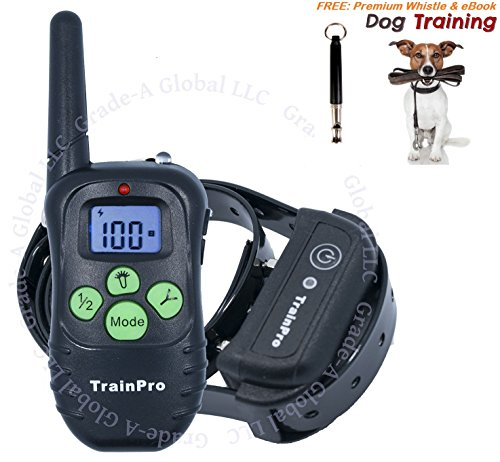 [TrainPro PRO998 330-Yard Rechargeable Waterproof Electronic Collar for One Dog with eBook and Whistle, 3.0 Version, Green] (Easy Bearded Halloween Costumes)