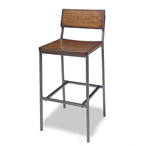 Progressive Furniture Sawyer Wood Metal Bar Stool, Brown
