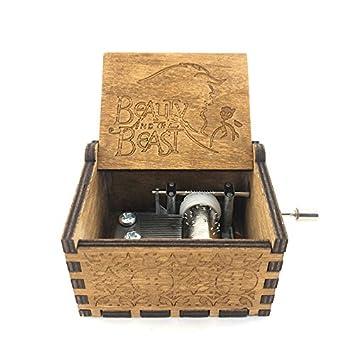 YaphetS Caja de música clásica grabada a Mano de Madera manivela Personalizada Tallada Madera Caja Musical Regalo de cumpleaños: Amazon.es: Hogar