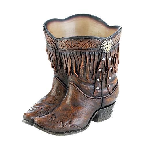(Summerfield Terrace Fringed Cowboy Boot Planter)