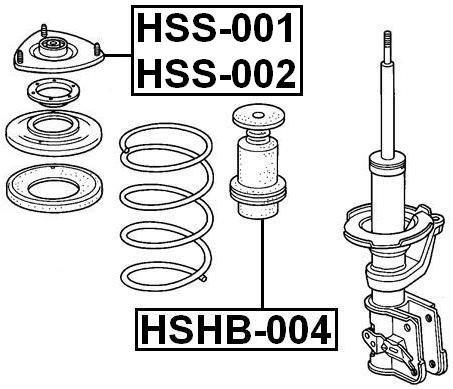 Febest Shock Absorber Boot D20 For Honda 51722S6A004