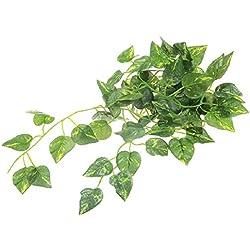super1798 Artificial Leaf Vine Scindapsus Aureus Plant Garland Reptiles Terrarium Decor