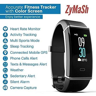 ZyMaSh Fitness Tracker – Color Smart Watch – Heart Rate Fitness Tracker – IP68 Waterproof Fitness Watch – Fit Watch Tracker Pedometer for Men, Women, Kids – Activity Tracker