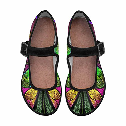 Interestprint Femmes Confort Mary Jane Appartements Casual Chaussures De Marche Multi 13