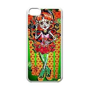 Custom for iPhone 5c Cell Phone Case White Monster High Theme DG1277