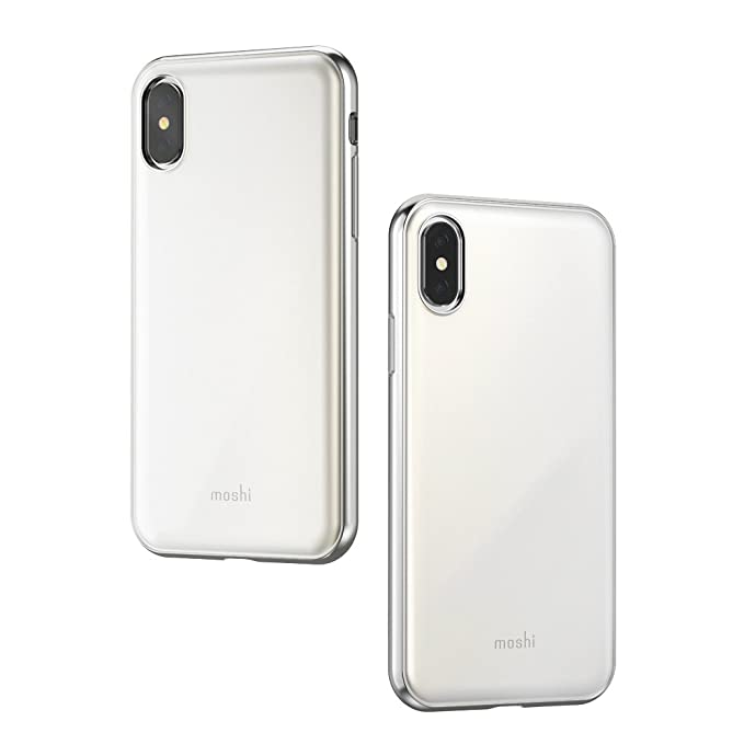 wholesale dealer 8866d 191c4 Moshi iGlaze Stylish Slim case for iPhone Xs/iPhone X Fit Lightweight  Snap-On Hybrid Drop Protection(White)
