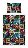 Disney Traditions DISNEY MARVEL COMICS Strike 4-in-1 Junior Bed Bundle, Multi-Colour