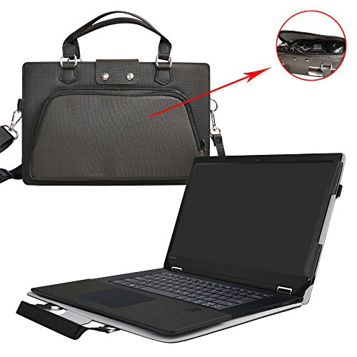 Flex 5 15 Case,2 in 1 Accurately Designed Protective PU Leather Cover + Portable Carrying Bag for 15.6